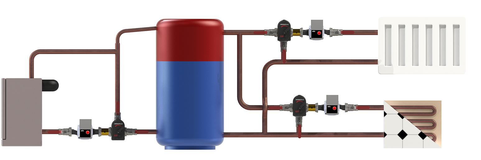 Сервопривод-контроллер Thermomatic CC. Схема